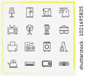 home appliances line icon set... | Shutterstock .eps vector #1021695835