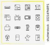 home appliances line icon set... | Shutterstock .eps vector #1021696891