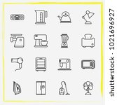 home appliances line icon set... | Shutterstock .eps vector #1021696927