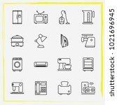 home appliances line icon set...   Shutterstock .eps vector #1021696945