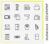 home appliances line icon set... | Shutterstock .eps vector #1021696969