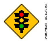 traffic lights sign | Shutterstock .eps vector #1021697551