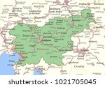 map of slovenia. shows country... | Shutterstock .eps vector #1021705045