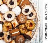 homemade european bakery style...   Shutterstock . vector #1021713949