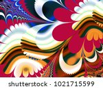abstract fractal background... | Shutterstock . vector #1021715599