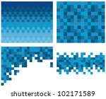 square pixel mosaic background | Shutterstock .eps vector #102171589