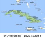 Map Of Cuba. Shows Country...