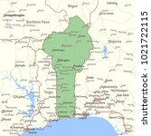 map of benin. shows country... | Shutterstock .eps vector #1021722115