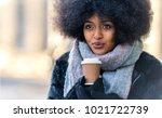 afroamerican woman portrait   Shutterstock . vector #1021722739