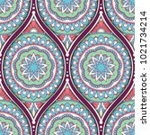 seamless pattern with ethnic...   Shutterstock .eps vector #1021734214