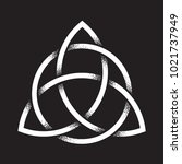 triquetra or trinity knot. hand ... | Shutterstock .eps vector #1021737949