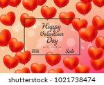 valentines day sale background... | Shutterstock .eps vector #1021738474