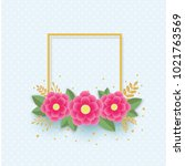 banner or greeting card... | Shutterstock .eps vector #1021763569