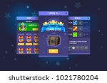 complete fantasy game ui kit | Shutterstock .eps vector #1021780204