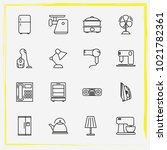 home appliances line icon set... | Shutterstock .eps vector #1021782361
