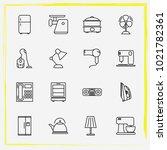 home appliances line icon set...   Shutterstock .eps vector #1021782361