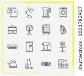 home appliances line icon set... | Shutterstock .eps vector #1021782427