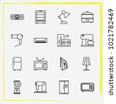 home appliances line icon set... | Shutterstock .eps vector #1021782469