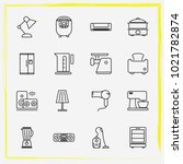 home appliances line icon set... | Shutterstock .eps vector #1021782874