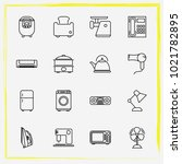 home appliances line icon set...   Shutterstock .eps vector #1021782895