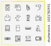 home appliances line icon set... | Shutterstock .eps vector #1021782931