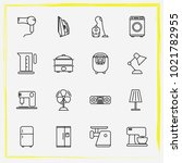 home appliances line icon set...   Shutterstock .eps vector #1021782955