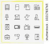 home appliances line icon set... | Shutterstock .eps vector #1021783765