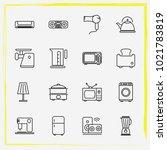 home appliances line icon set... | Shutterstock .eps vector #1021783819