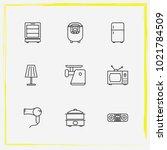 home appliances line icon set...   Shutterstock .eps vector #1021784509