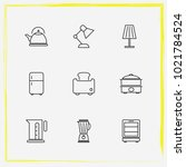 home appliances line icon set... | Shutterstock .eps vector #1021784524
