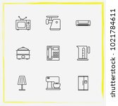 home appliances line icon set...   Shutterstock .eps vector #1021784611