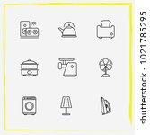 home appliances line icon set...   Shutterstock .eps vector #1021785295