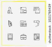 home appliances line icon set...   Shutterstock .eps vector #1021785439
