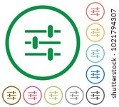 adjustment flat color icons in... | Shutterstock .eps vector #1021794307