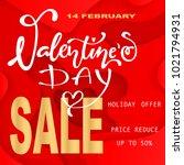 14 february valentine day... | Shutterstock .eps vector #1021794931