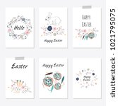 set of cards templates with... | Shutterstock . vector #1021795075