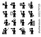 jobs icons set  elegant series | Shutterstock .eps vector #102179725