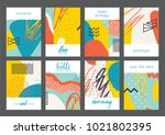 set of creative universal... | Shutterstock .eps vector #1021802395