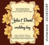 marriage romantic invitation.... | Shutterstock .eps vector #1021815289