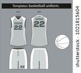 basketball form template for... | Shutterstock .eps vector #1021815604