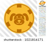 puppy casino chip pictograph... | Shutterstock .eps vector #1021816171