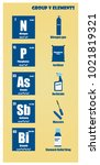 periodic table of element group ...   Shutterstock .eps vector #1021819321
