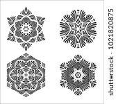 black and white design elements.... | Shutterstock .eps vector #1021820875
