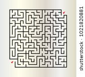 abstract rectangle labyrinth... | Shutterstock .eps vector #1021820881