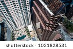 looking down on tall... | Shutterstock . vector #1021828531