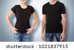 shirt design and people concept ... | Shutterstock . vector #1021837915