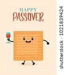 passover holiday greeting card... | Shutterstock .eps vector #1021839424