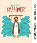 passover holiday greeting card...   Shutterstock .eps vector #1021839427