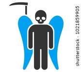 scythe death angel flat vector... | Shutterstock .eps vector #1021859905