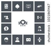 set of 13 editable casino icons....